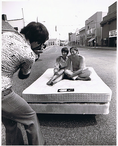 Norwalk Connecticut: Sitting on a Mattress on Wall Street.